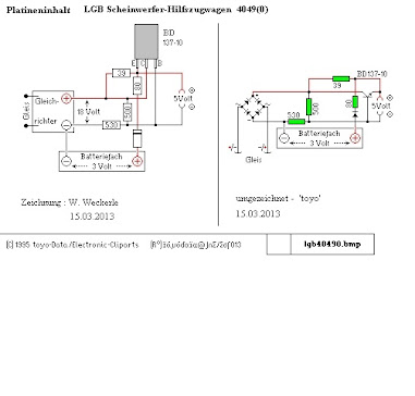 Scheinwerfer-Hilfszugwagen - Platine - Modell-Land
