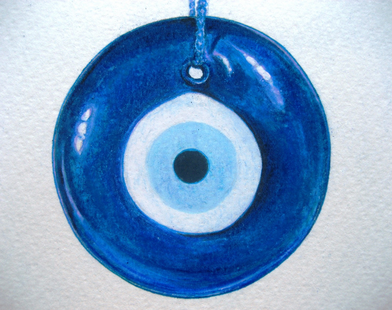 March 7, 2011 - Nazar (Evil Eye Amulet) | A Drawing a Day for a Year
