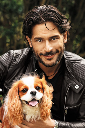 Joe Manganiello and his dog