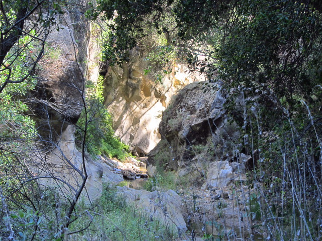 narrow section of canyon