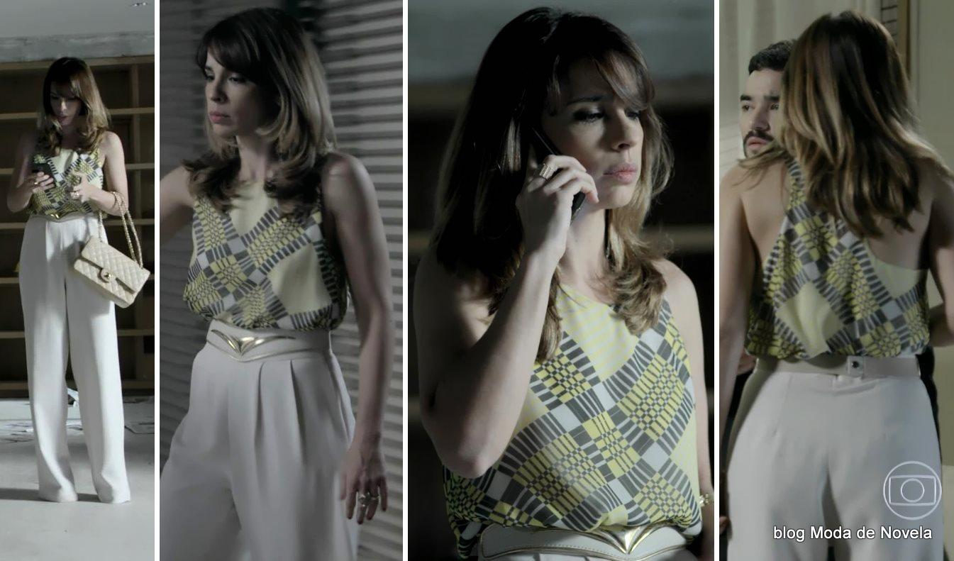 moda da novela Império - look da Danielle dia 29 de agosto