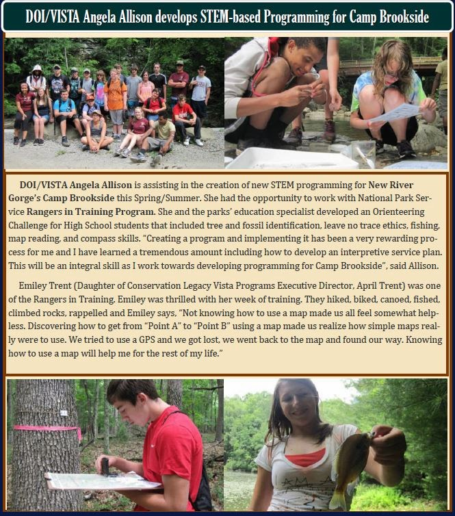 Angela Allison STEM program at Camp Brookside