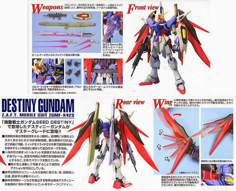Destiny Gundam MG 1/100 đem đến phạm vi chuyển động không thể tin được