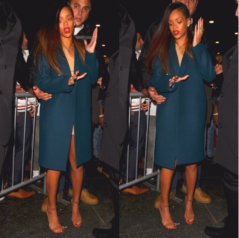 Rihanna in Manolo Blahnik