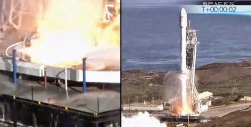 Spacex Falcon 9 Lifts Off With Canadian Satellite