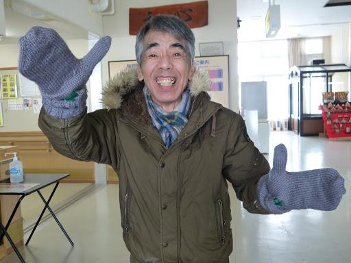 大きな手袋です