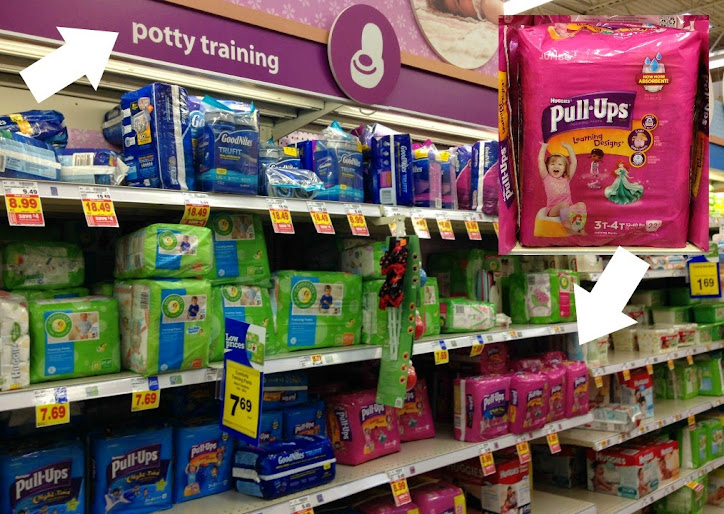 Pull-Ups® training pants are easy to find at your local Kroger - they even label the section of the baby/kid aisle #PUBigKid