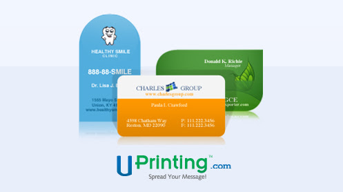 business cards by UPrinting