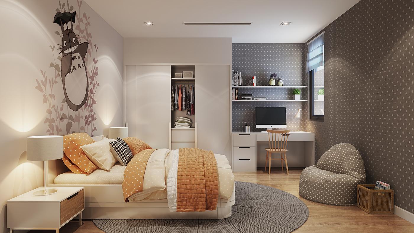 Phòng ngủ của dự án Hinode City Minh Khai