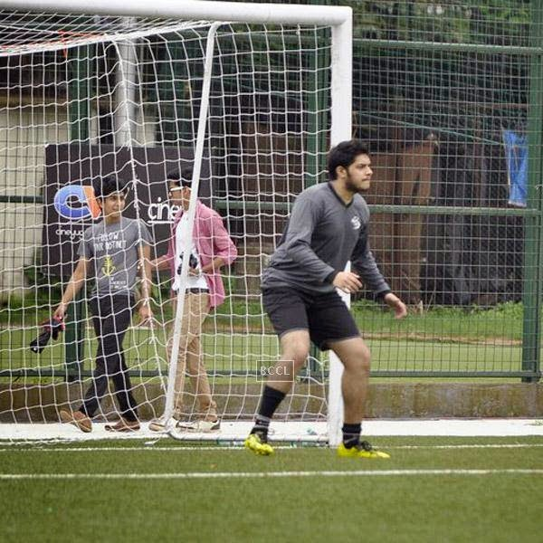 Junaid Khan during a charity soccer match organised by Aamir's daughter Ira Khan, at Cooperage ground, on July 20, 2014.(Pic: Viral Bhayani)