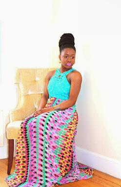 ankara dresses, aqua