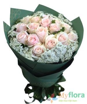 Bó hoa tươi Phút yêu đầu