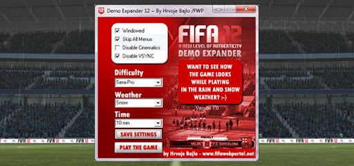 snig1 Demo FIFA 12: Demo Expander 12