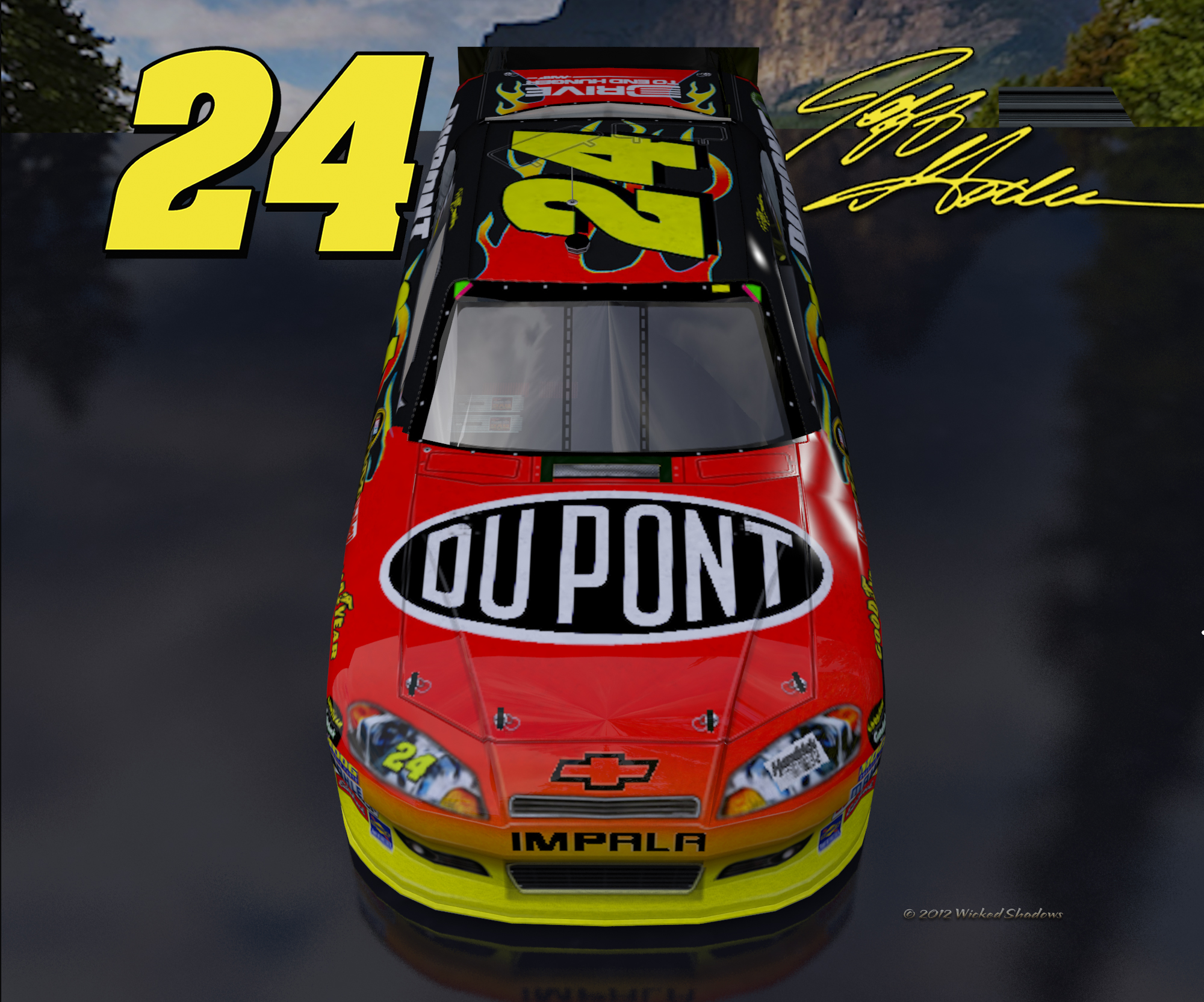 Wallpapers By Wicked Shadows Jeff Gordon Dupont Outdoor Version 2