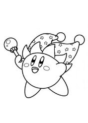 TJester Kirby Coloring Page