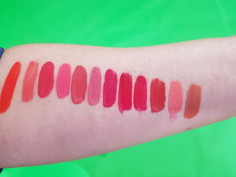 bảng màu son kem RIORI Velvet Lip Tint