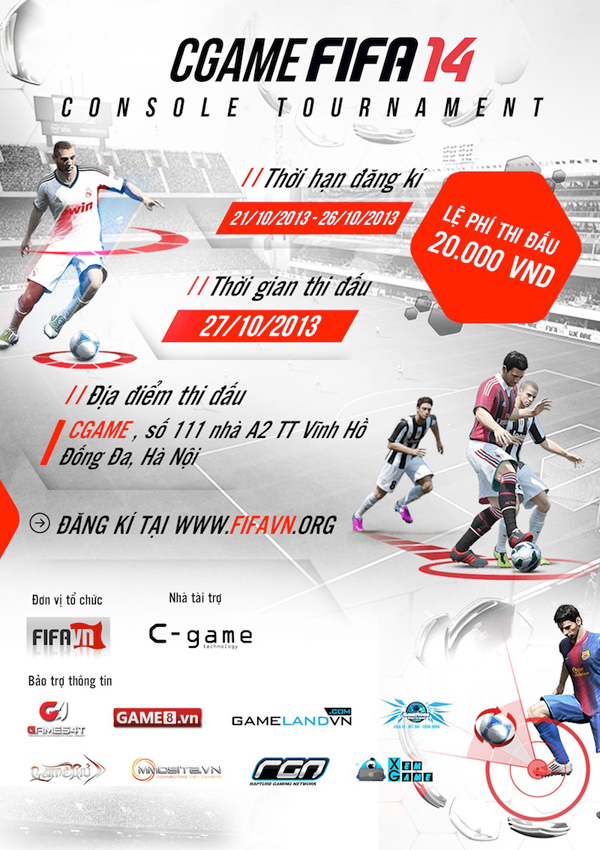 CGAME FIFA 14 Console Tournament khởi động 2
