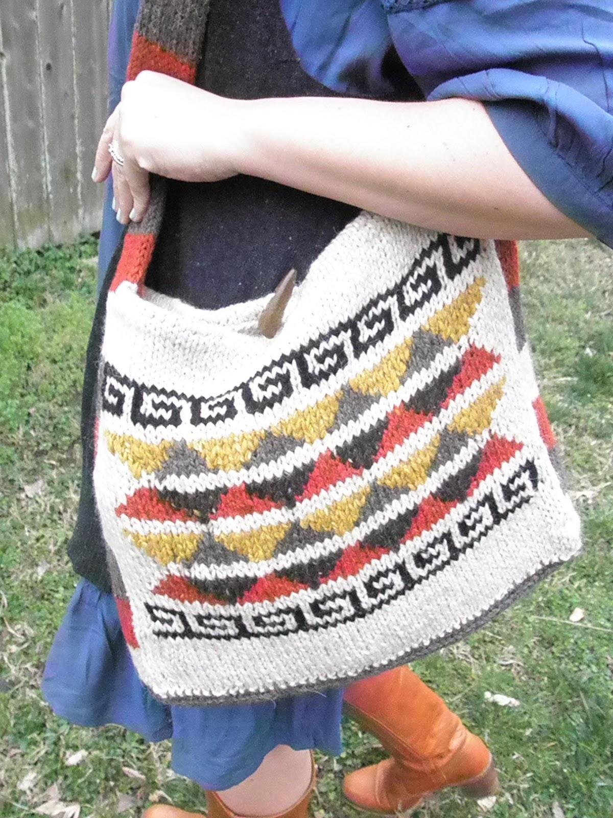 Bohemian Knitting Patterns : * elletrain knits *: Bohemian Satchel Knitting Pattern