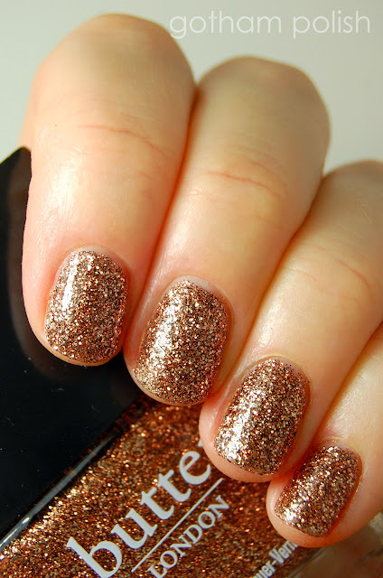 Top 5 Summer 2013 Nail Polish Trends: brown glitter