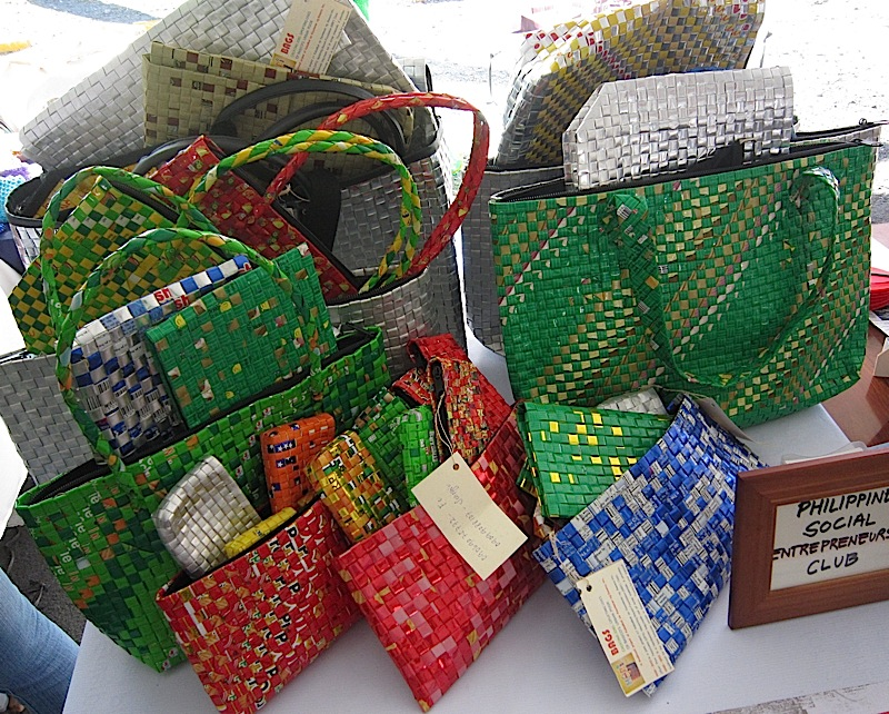 bags made out of foil packs