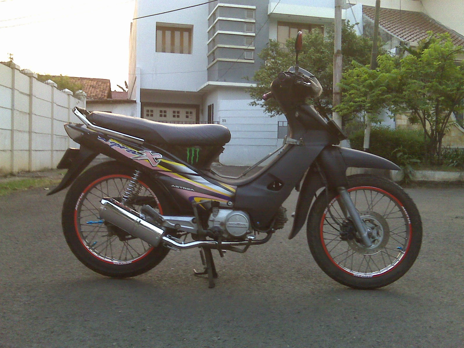 Modifikasi Supra X 100cc Drag