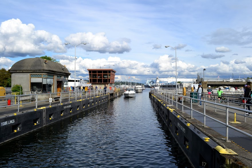 Шлюзы Баллард, Сиэтл, Вашингтон (Ballard Locks, Seattle, WA)