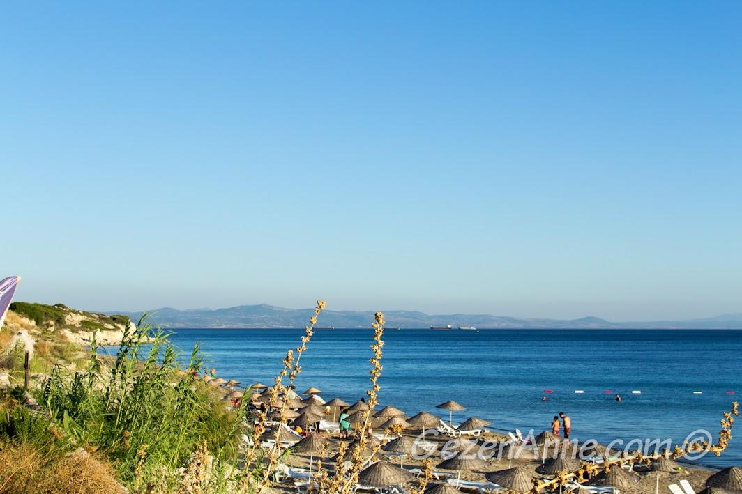Bozcaada, Ayazma plajının baş tarafı