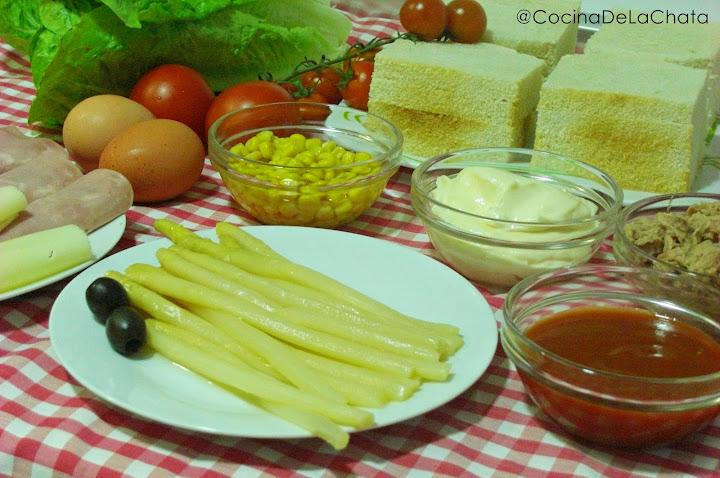 Ingredientes para una tarta campestre