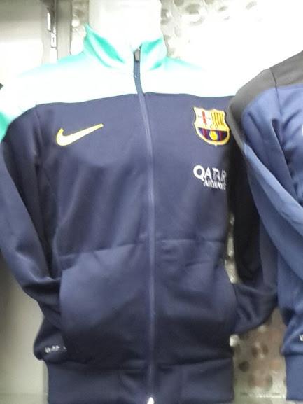 Jual Jaket Training Barcelona Biru Terbaru 2014