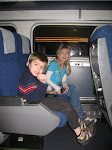 Bryan and Hannah on the Amtrak going back to Champaign IL 01152012