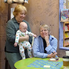 Lois Lowry visits blue manatee, meets newest fan