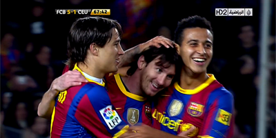 Copa Del Rey : Barcelona 5 vs 1 Ceuta 10-11-2010