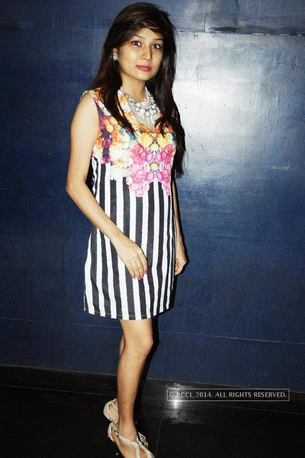Swati poses during the party, in Chennai.