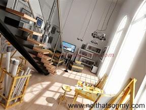 Mẫu thiết kế nội thất phòng khách 340