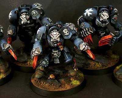 Black Templar terminator assault squad