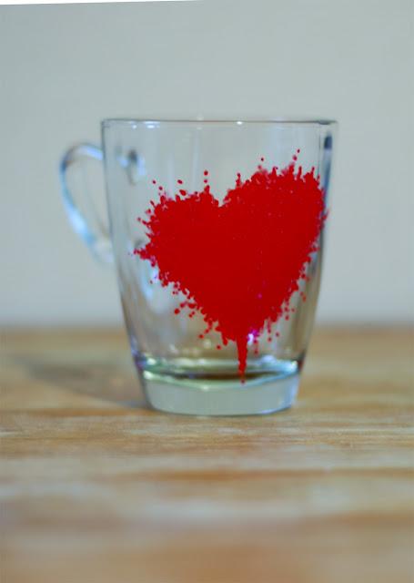 DIY Painted Mug St Valentines Gift Idea Things We Do Blog - Diy creative painted mug