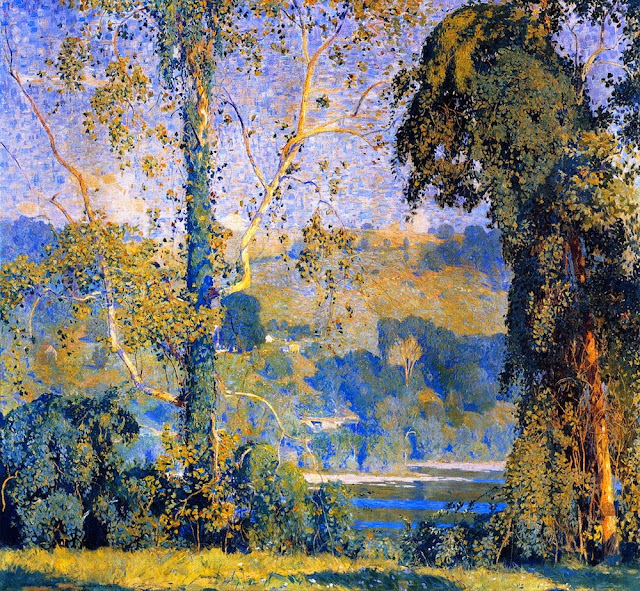 Daniel Garber - Vine Clad Trees , 1916