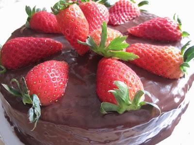 Blessed Homemaker Strawberry Chocolate Cake