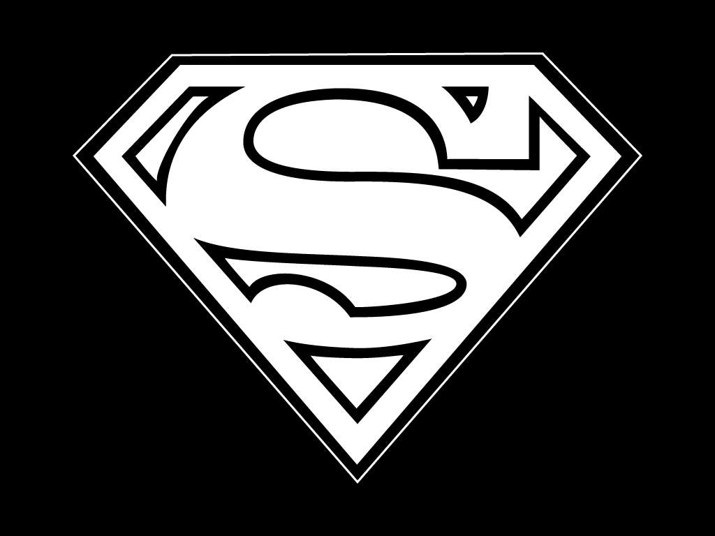 and logo black white superman pictures to pin on pinterest