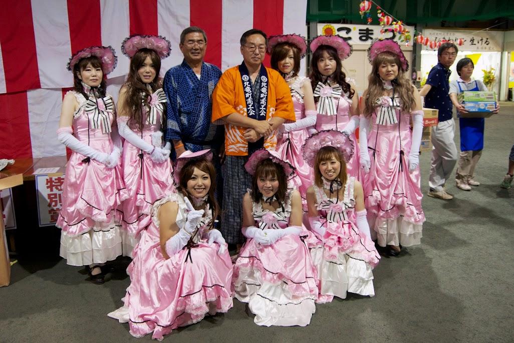 北竜町盆踊り大会2014・団体優勝:チームばるたん(北竜町)