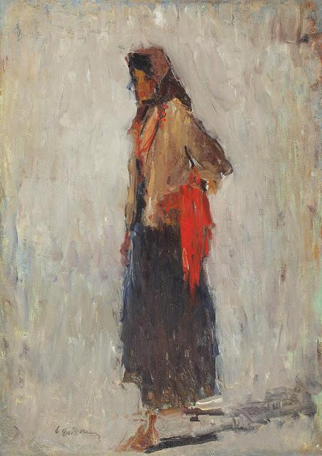 Lucian Grigorescu - Țărăncuță cu mărgele roșii