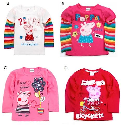 Baby Girls Peppa Pig Top Shirt 18 Months 6 Years