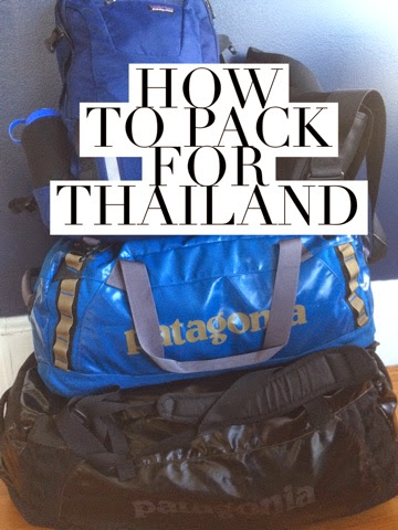 how to pack a duffle bag for thailand