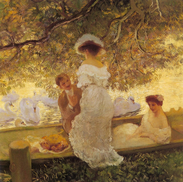 Gaston La Touche - The Boating Party