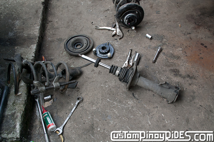 Custom Pinoy Rides Nissan Cefiro A32 VIP Style Lowering Spring Install pic11