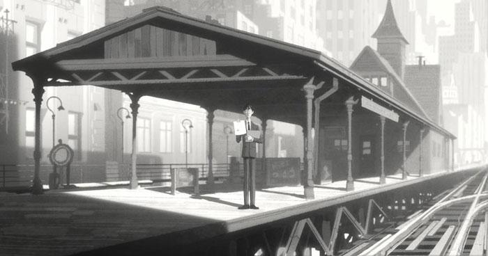 *榮獲奧斯卡提名-迪士尼動畫短片Paperman:紙飛機劃開愛情的隔界 3