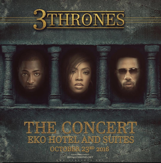 Biggest Lagos Concert '3 Thrones' to Hold Sunday October 23rd
