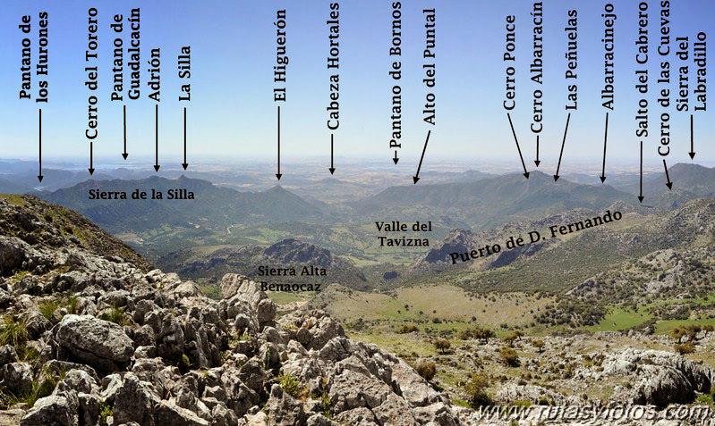 Subida al Caillo desde Villaluenga