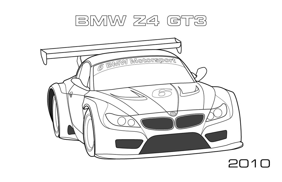 Gt Cars Car Coloring Pages