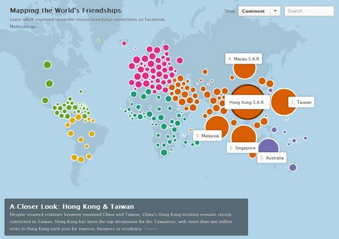 Mapping the World's Friendship